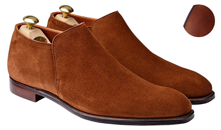 Kempton 3 Polo Brown Calf Suede | Crockett & Jones