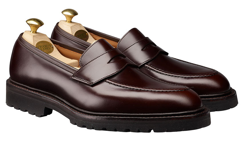 Henley 3 Dark Brown Cavalry Calf | Crockett & Jones