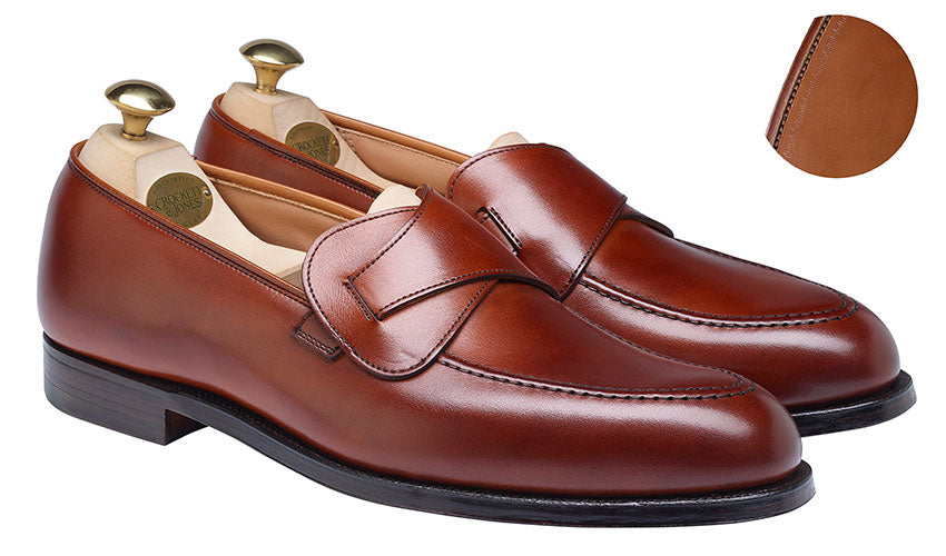 Selby Chestnut Burnished Calf | Crockett & Jones