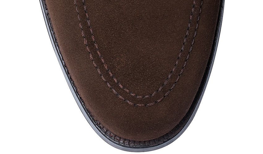 Selby in Dark Brown Suede | Crockett & Jones