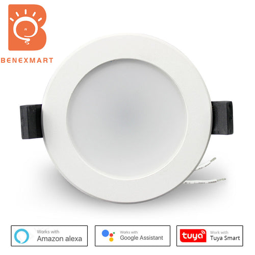 Benexmart 2.5 inch WiFi RGBCW Led Downlight 7w Voice Control Alexa Google Home Assistant IFTTT lampu Home Automation