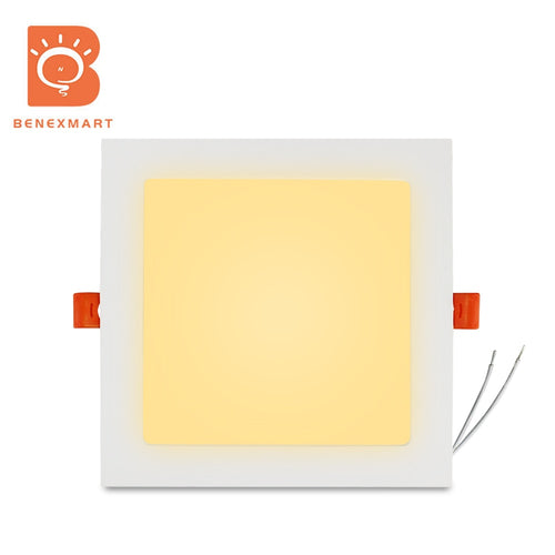 Benexmart Tuya WiFi 15w Led Smart Downlight RGBW Recessed Ceiling Light with Square Panel Alexa Google Home Voice Control