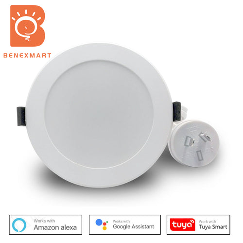 Benexmart SAA AU WiFi Smart LED Downlight 4 inch Dimming Round Spot Light 14W RGB with Warm White Cool White Work with Alexa Google Home