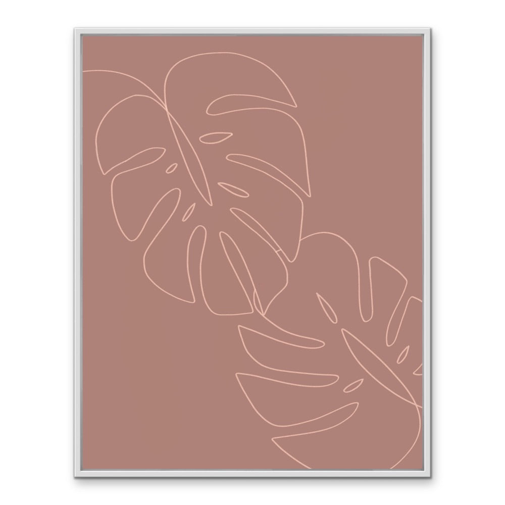 leaves (dusty red)