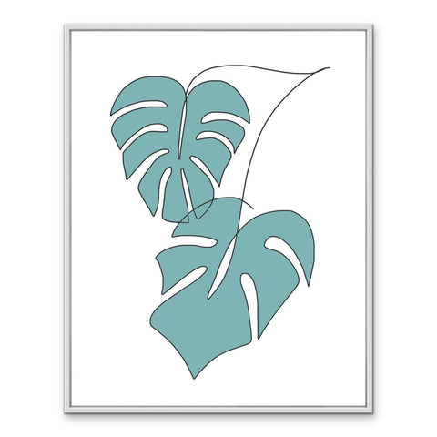 monstera (blue)