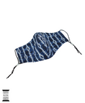 Hu-Sews Reusable Face Mask (Shibori- Indigo)
