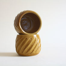 Load image into Gallery viewer, Caramel Fluted Espresso Cup or Tea Cup Set of 2 - Jenni Oh Crafts