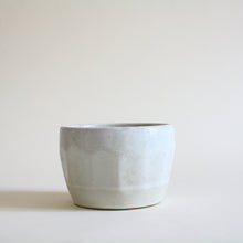 Load image into Gallery viewer, Small White Faceted Pot - Jenni Oh Crafts