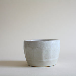Small White Faceted Pot - Jenni Oh Crafts