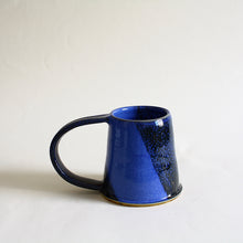 Load image into Gallery viewer, Large Mug Blue Galaxy Glaze