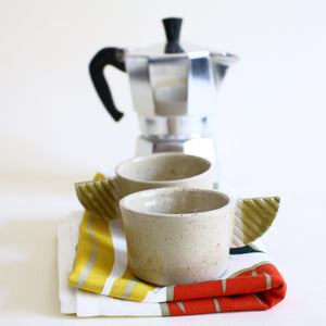 Ash Glaze Espresso Coffee Cup Set for 2