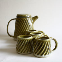 Load image into Gallery viewer, Fluted Tea Set for 4