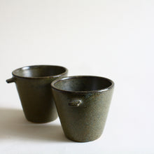 Load image into Gallery viewer, Olive Green Espresso Cup Set of 2