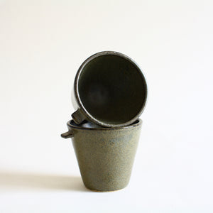 Olive Green Espresso Cup Set of 2