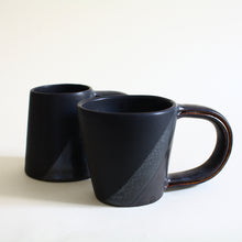 Load image into Gallery viewer, Black on Black Set of 2 Mugs