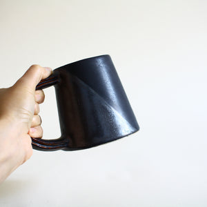 Black on Black Set of 2 Mugs
