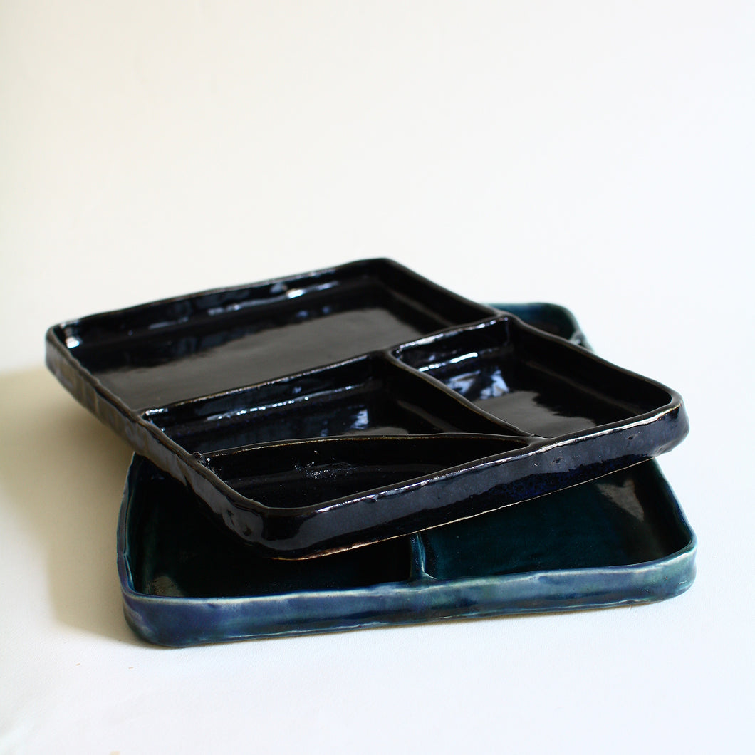 MADE TO ORDER Rectangular Sectional Bento Thali Plates