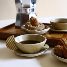 Load image into Gallery viewer, Potato Crisp Espresso Cup and Saucer Set for 2