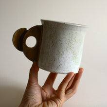Load image into Gallery viewer, Speckled mug with geometric handle