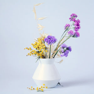 White Bud Vase Geometric Form