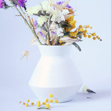 Load image into Gallery viewer, White Bud Vase Geometric Form