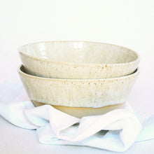 Load image into Gallery viewer, Set of 2 Speckled Noodle or Soup Bowls