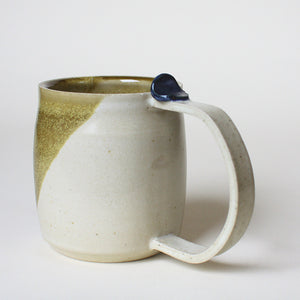 Cream and gold Mug with thumb rest