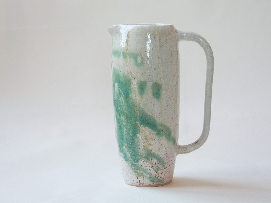 Splash Jug White and Green - Jenni Oh Crafts