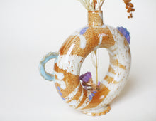 Load image into Gallery viewer, Handmade ceramic doughnut torus vase - Jenni Oh Crafts