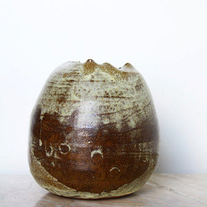 Organic Flower Vase in Earthy Tones - Jenni Oh Crafts