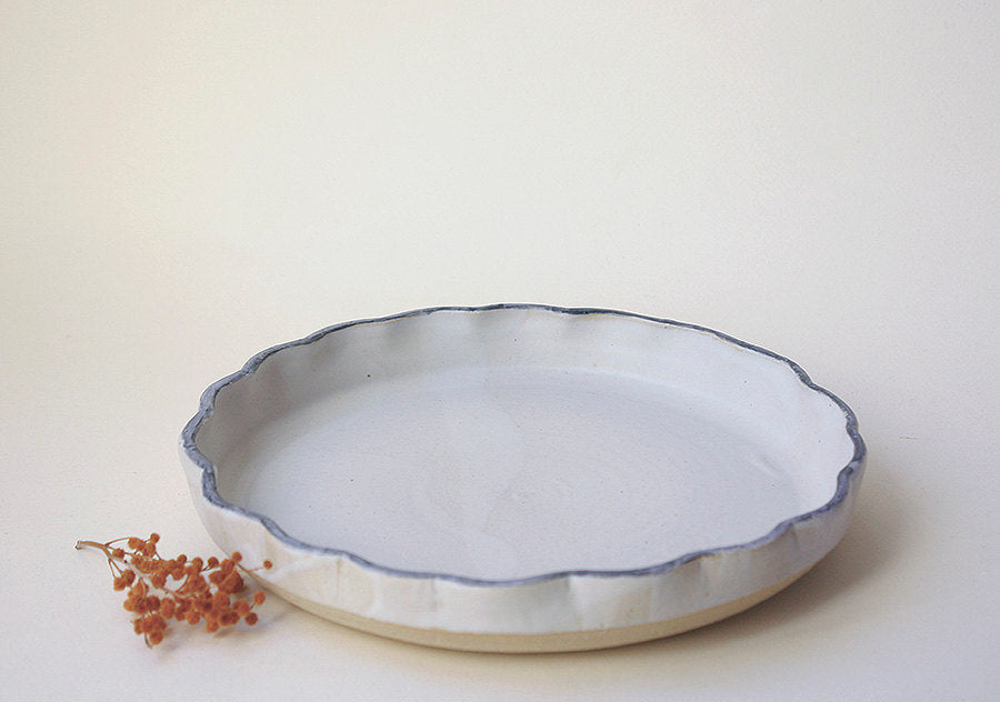 Scalloped Pie Dish - Jenni Oh Crafts