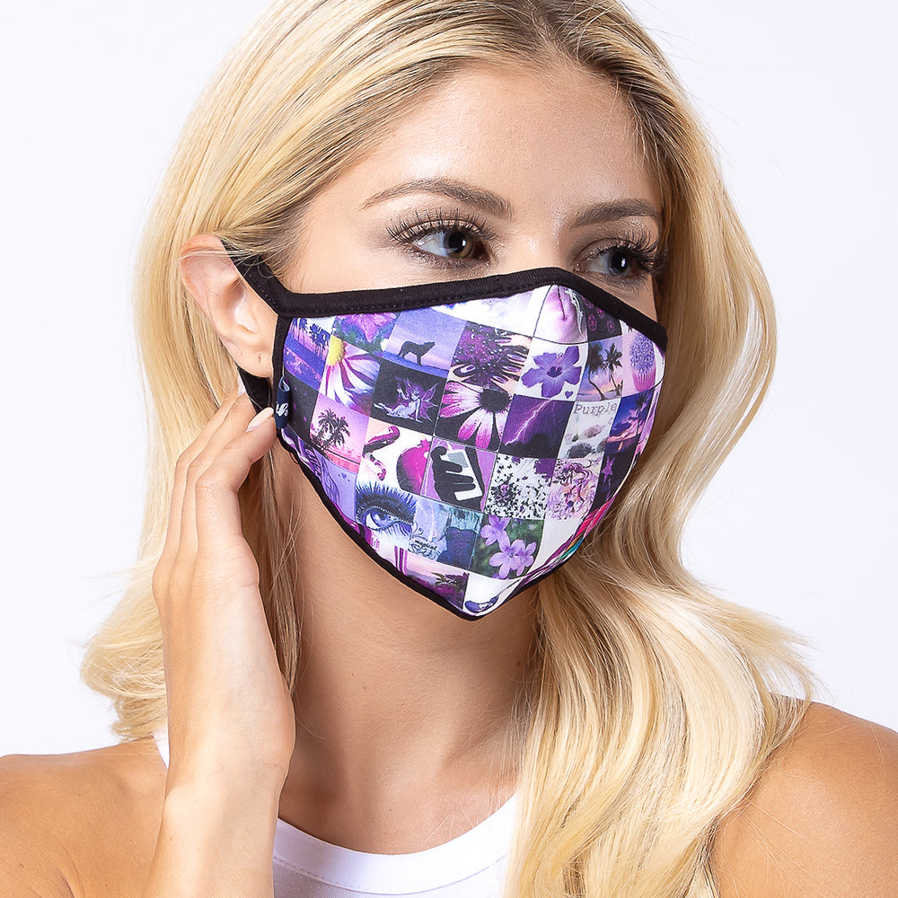 Load image into Gallery viewer, Multi Purpler 3-Layered Face Mask-PM0169