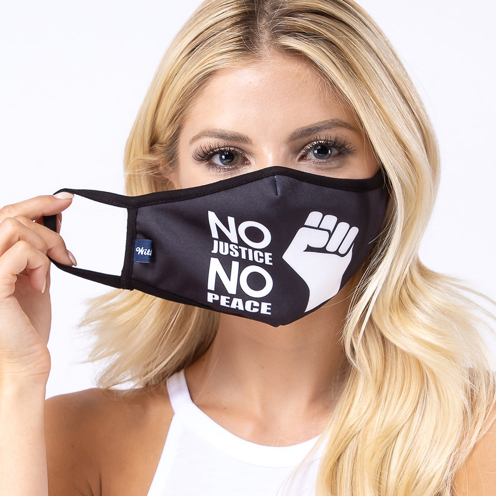 No Justice No Peace 3-Layered Face Mask-PM0223