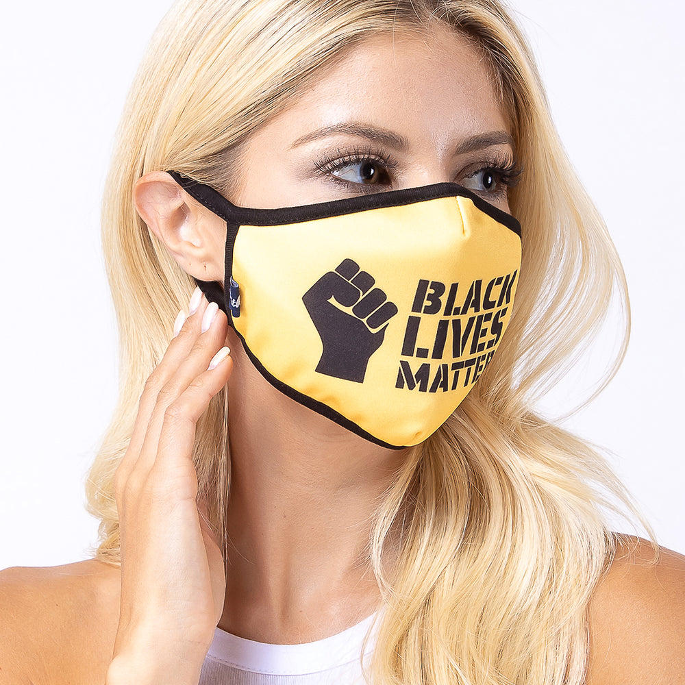Yellow Black Lives Matter 3-Layered Face Mask-PM0212
