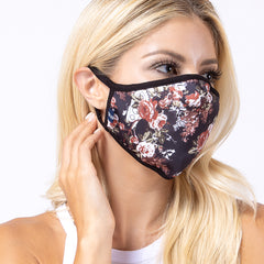 Night Fog Flowers 3-Layered Face Cover-PM0069