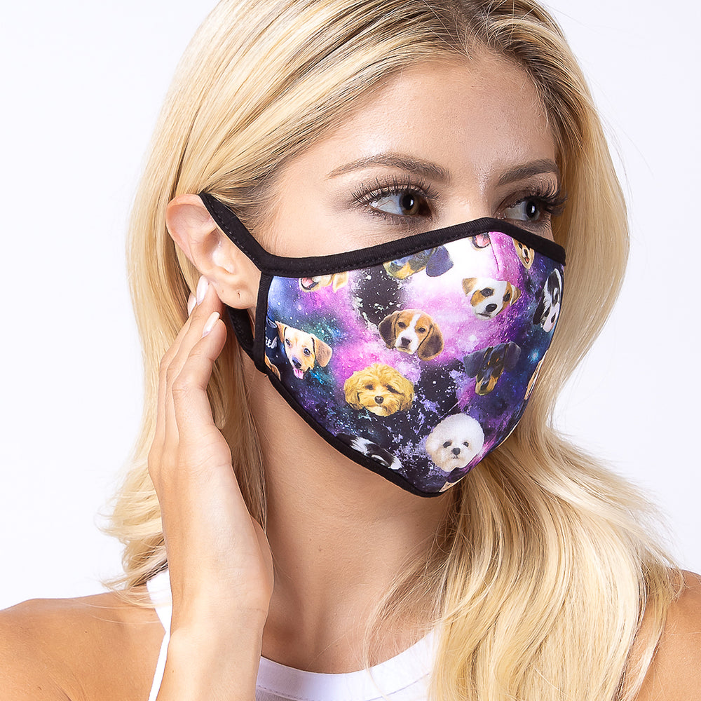 Galaxy Dogs 3-Layered Face Mask