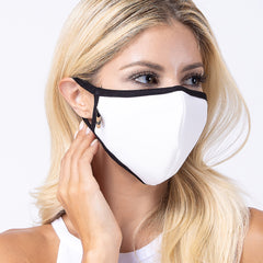 White 3-Layered Filter Face Cover-PM2002
