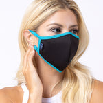 Black Turquoise 3-Layered Filter Face Mask