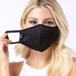 Black 3-Layered Filter Face Mask