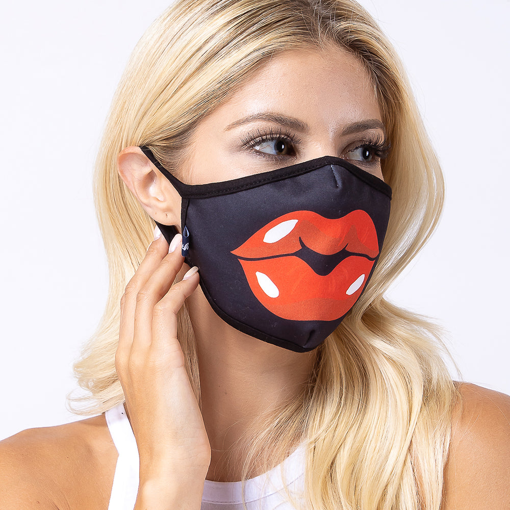 Red Lip 3-Layered Face Mask