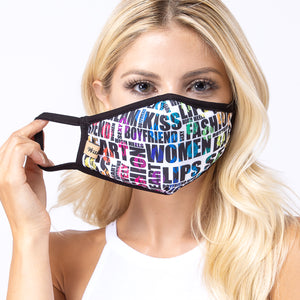 Digital Urban Lettering 3-Layered Face Mask-PM0067