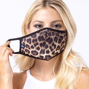 Cheetah Brown 3-Layered Face Mask-PM0029