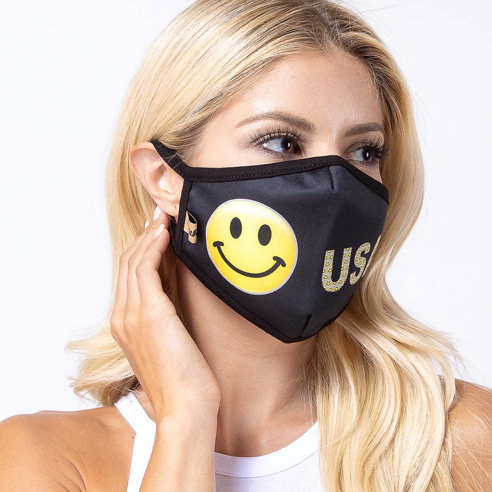 Smile USA 3-Layered Face Mask