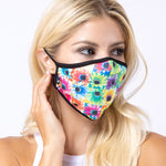 Multi-colors Sun Flower 3-Layered Face Mask