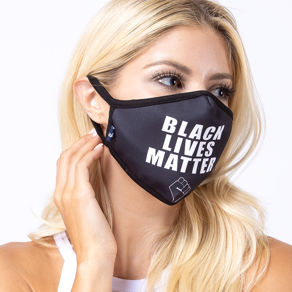 Black BLM 3-Layered Face Mask