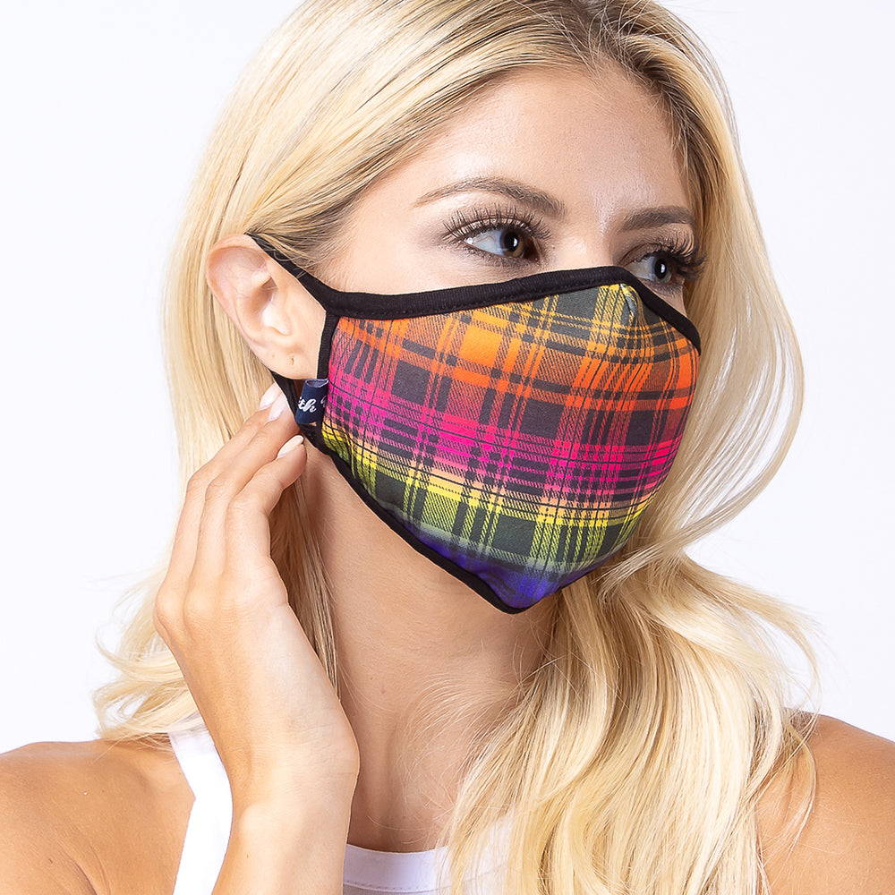 Multi-colors Checker 3-Layered Face Mask-PM0146