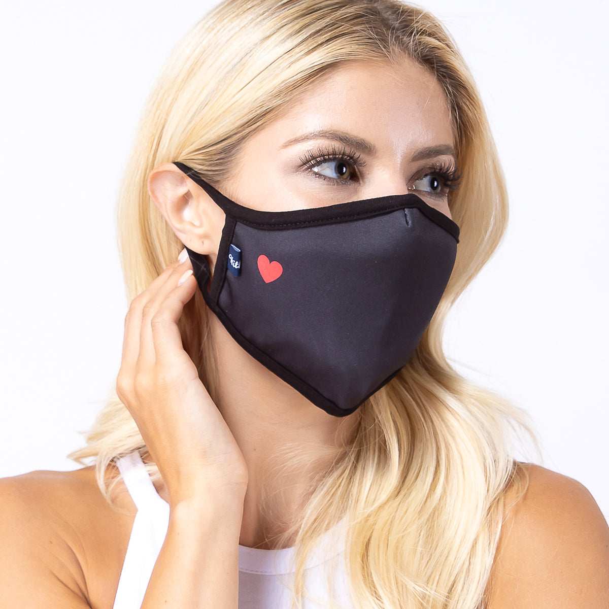 Red Heart 3-Layered Face Cover-PM0183