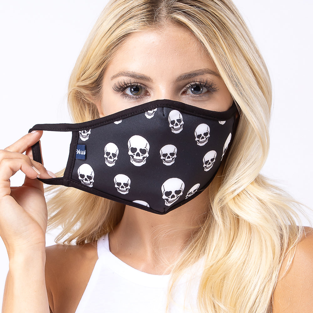 Black Skull 3-Layered Face Mask