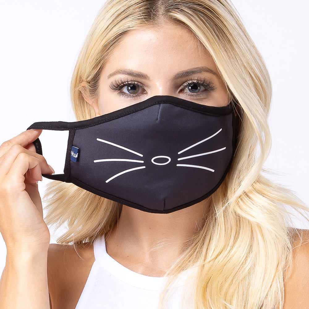 Cat Whiskers 3-Layered Face Mask