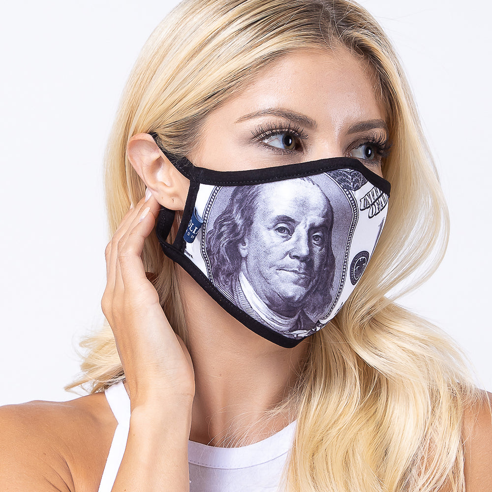 100 Bucks 3-Layered Face Mask